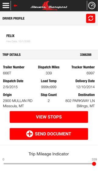 Profile/Trip Details